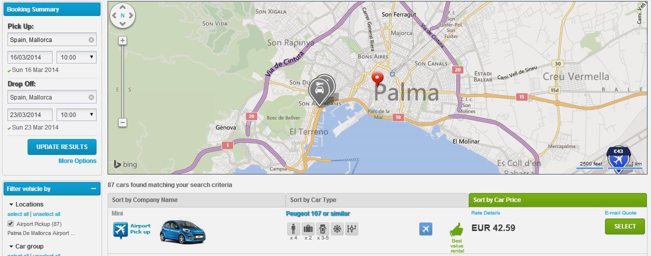 Cheap Car Rental in Mallorca